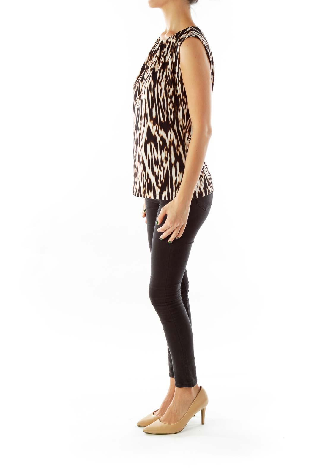 Black Leopard Print Blouse