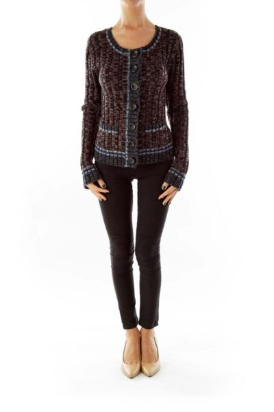 Multicolor Slim Cardigan