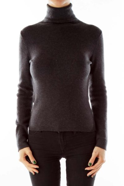 Gray Turtleneck Sweater