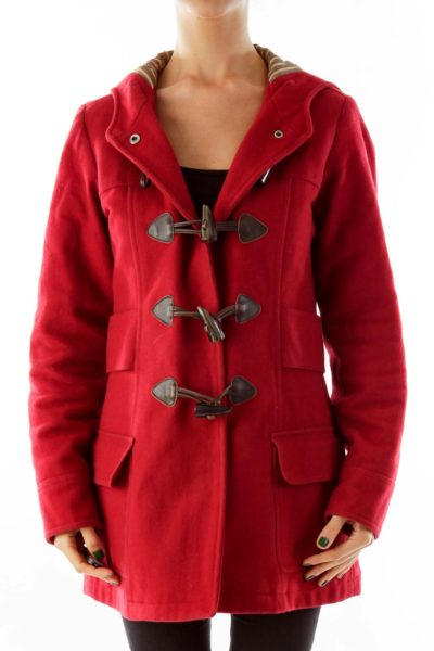 Red Single-Breasted Coat