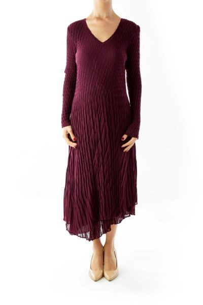 Purple Harlequin Evening Dress