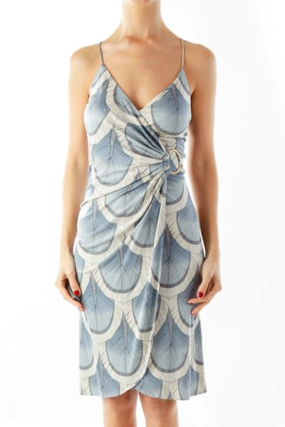 Blue Silk Day Dress