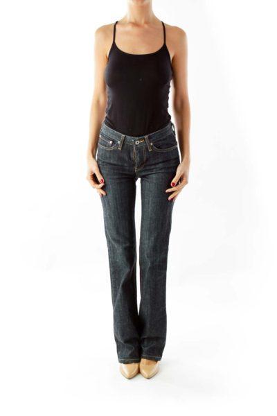 Blue Denim Flare Jeans