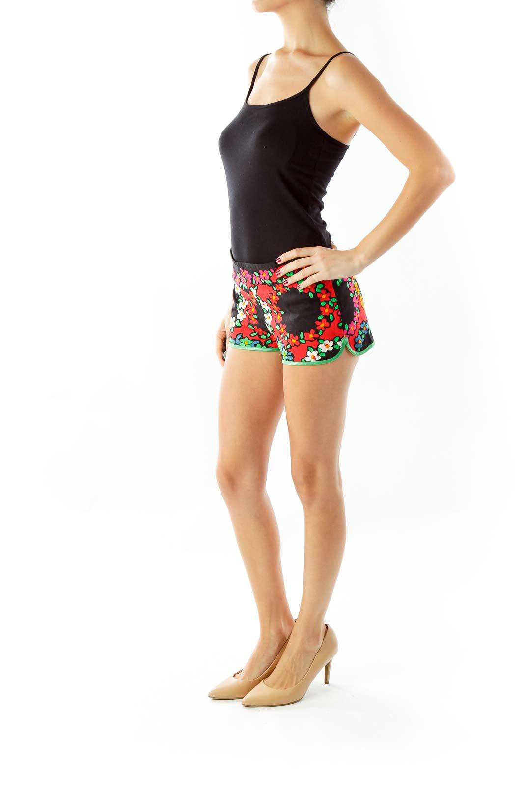 Multicolor Floral Mini Shorts