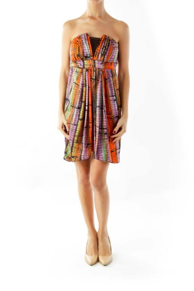Purple & Orange Cocktail Dress