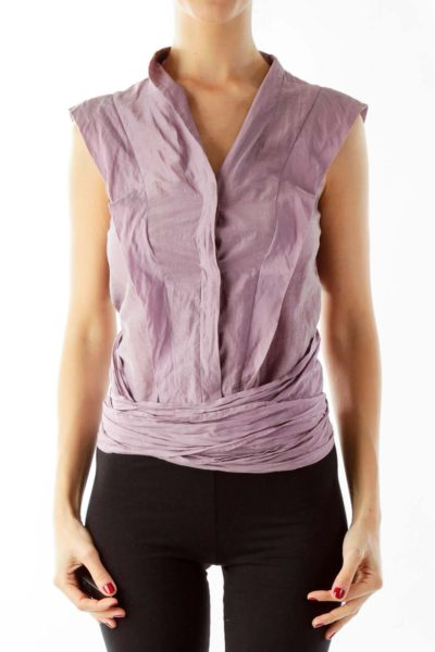 Purple Wrap Crop Top