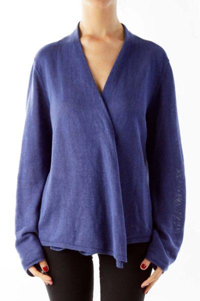Blue Linen Sweater