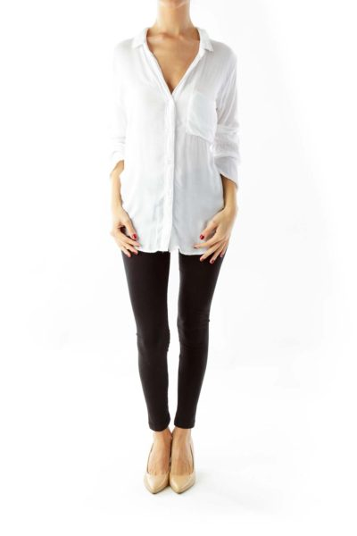 White Loose Fitting Shirt