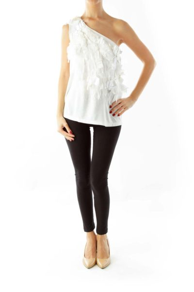 White Fringe Blouse