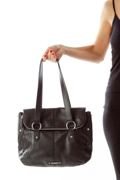 Black Double Strap Shoulder Bag