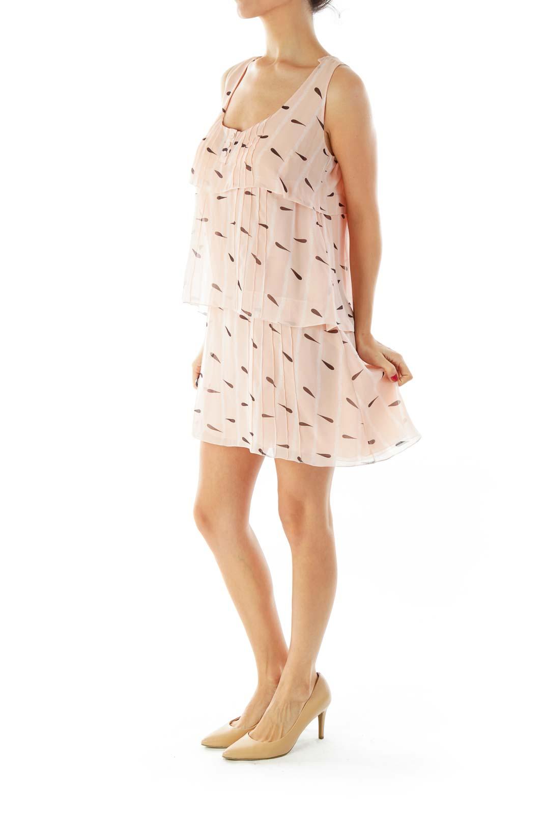 Pink Ruffled Tent Dress
