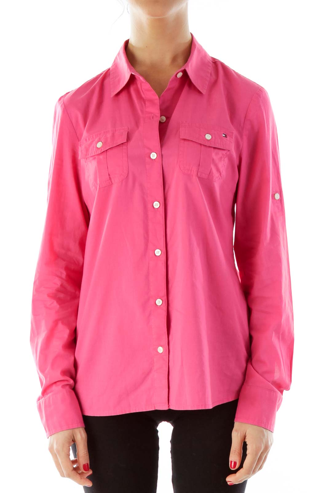 Pink Button-Up Shirt