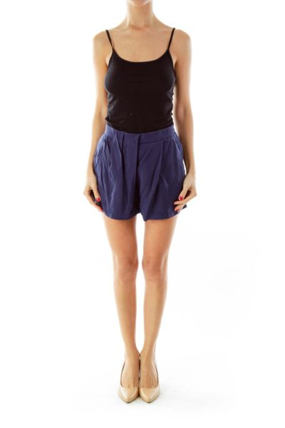 Navy Blue Athletic Shorts
