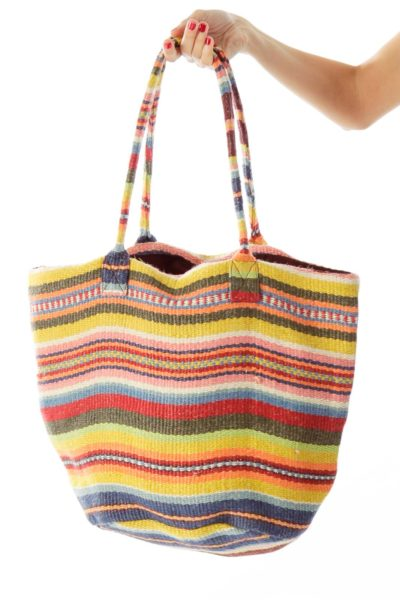 Red Stripped Tote