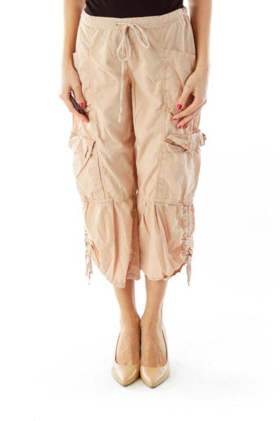 Beige Straight Leg Pants