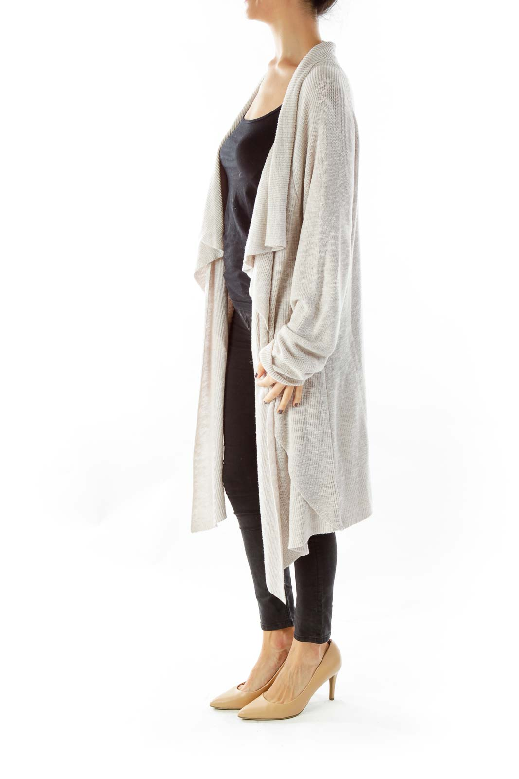 Oatmeal Open Faced Cardigan