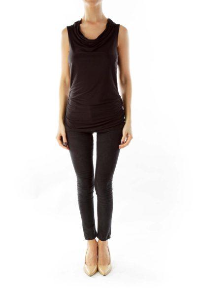 Black Sleeveless blouse