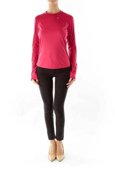 Pink Long Sleeve Sport Top