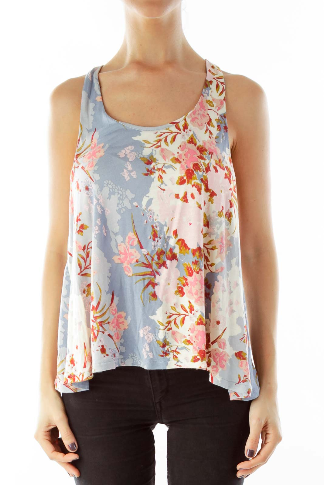 Floral Lose Fitting Blouse