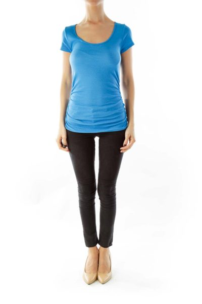 Blue Sparkle Cinched Tee