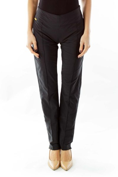 Black Pleated Active Pants