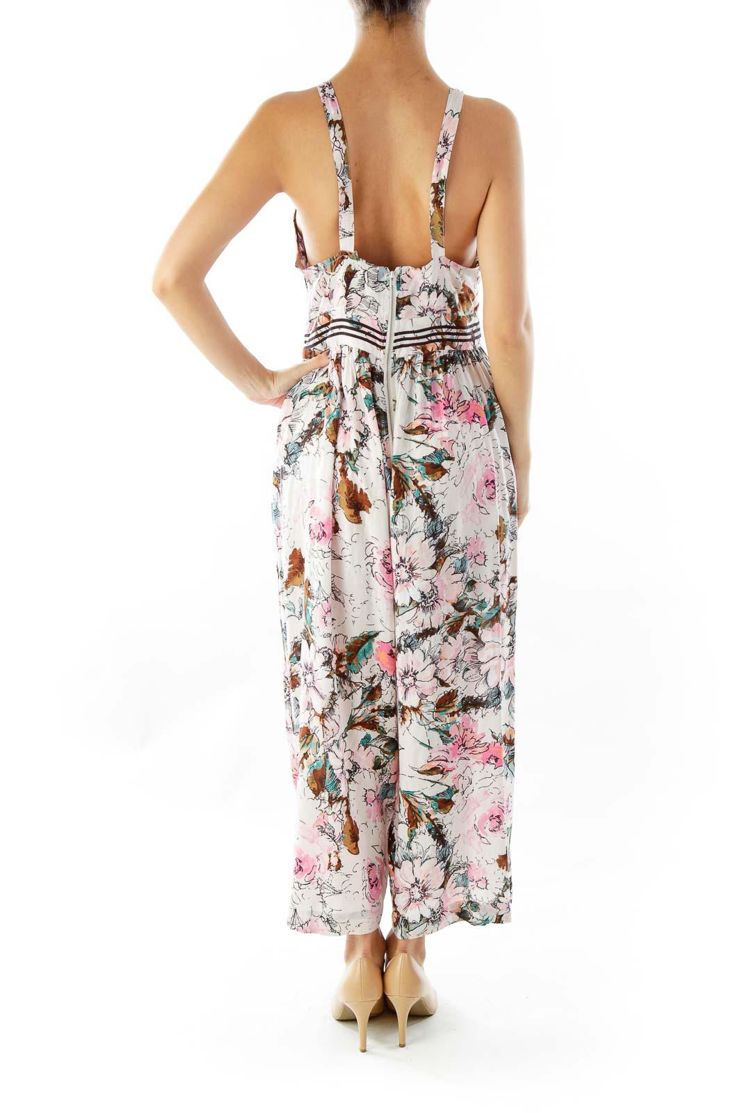 Pink & Black Floral Jumpsuit