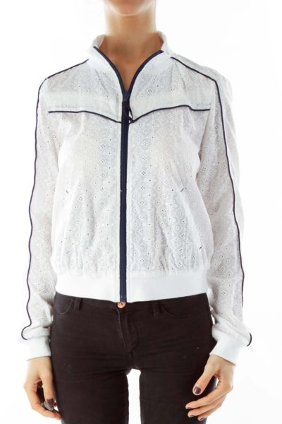 White Lace Sports Jacket