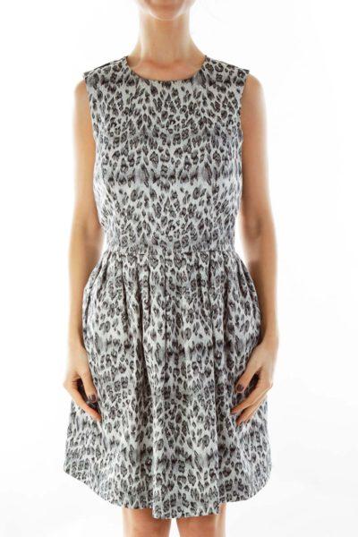 Gray Leopard Print Dress