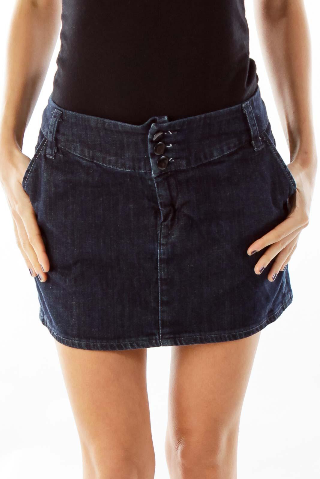 Blue Denim Mini-Skirt