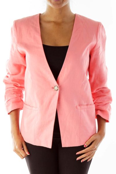 Pink Linen Blazer