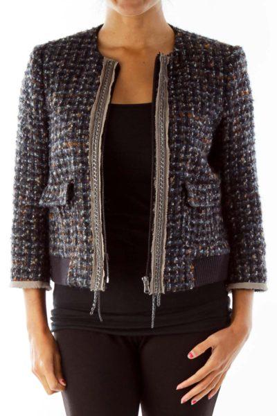 Navy Tweed Jacket
