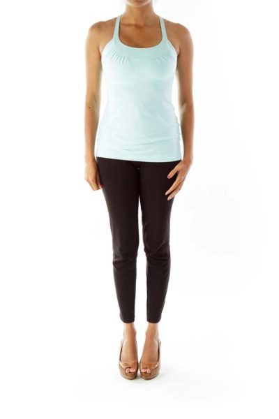 Pastel Green Racerback Yoga Top