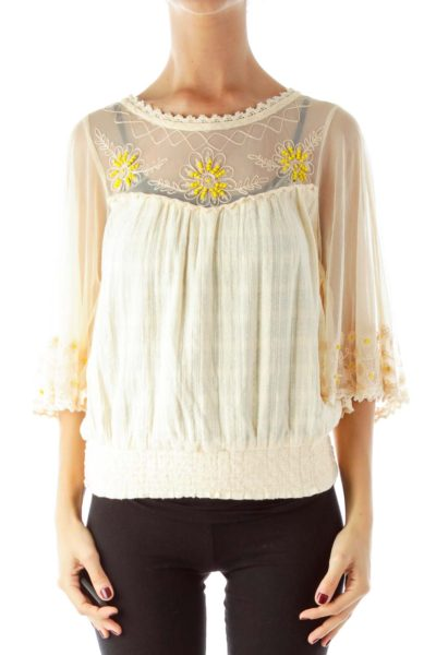 Peach Boho Blouse