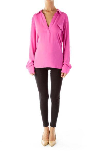 Pink Pocketed Shirt