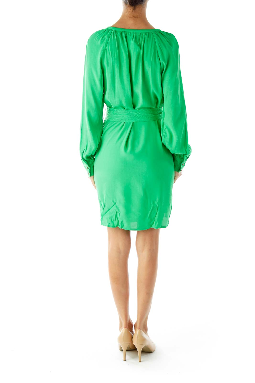 Green Belted Dress