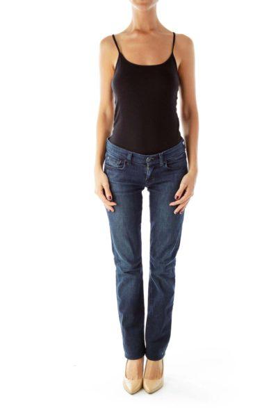 Navy Straight Leg Jeans