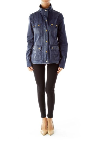 Navy Buttoned Jacket
