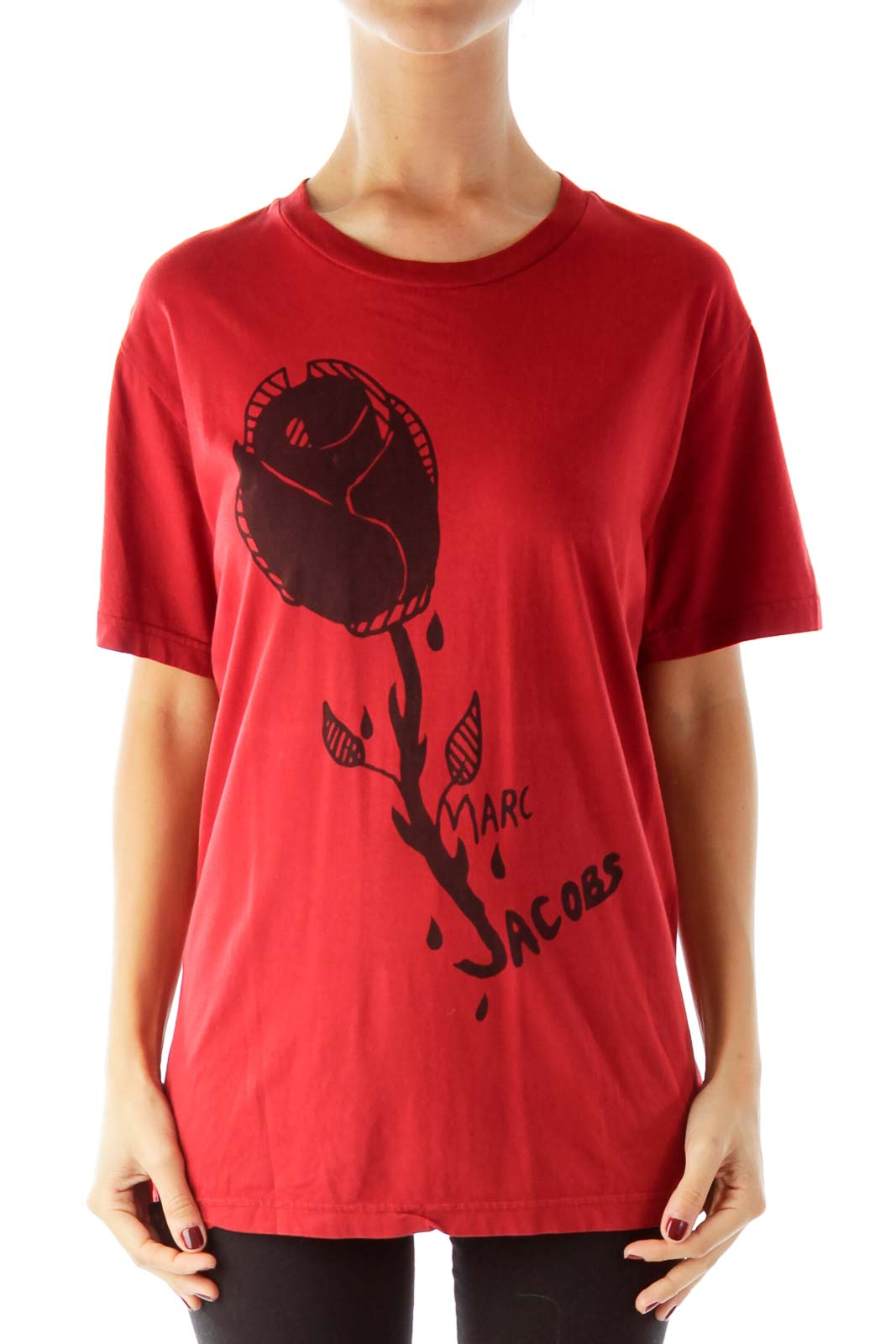 Red Printed Tee Shirt