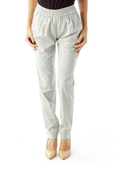 """Gray """"Woven"""" Pants"""