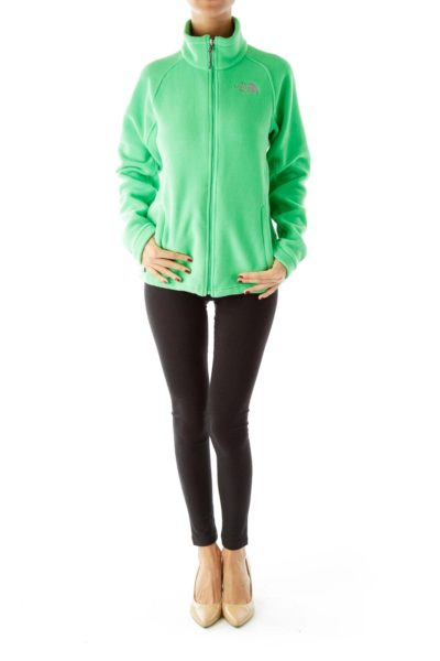 Green Zippered Fleece Jacket