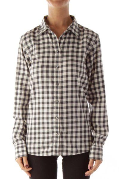 Black White Gingham Shirt