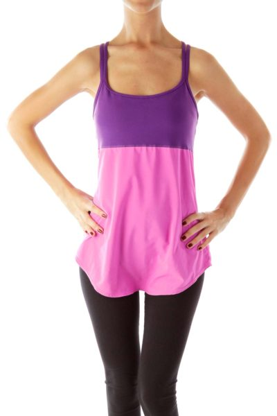Pink Purple Sport Top