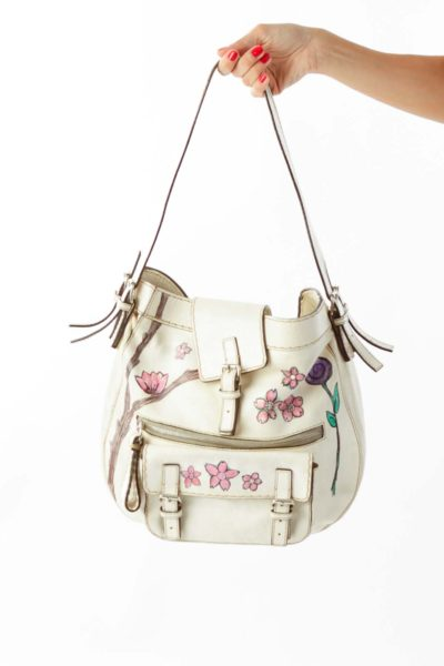 Cream Chloe Bag w/ Flower Details*