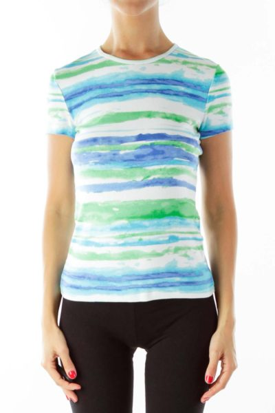 Tie Dye Petite Fitted T-Shirt