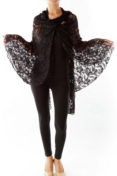 Black Lace Cape