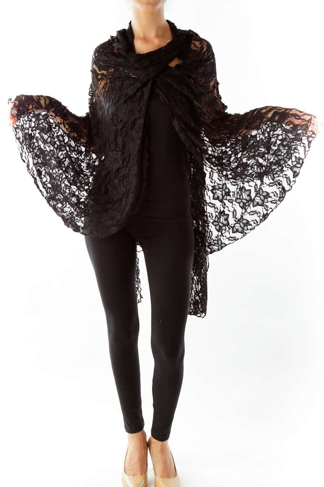 Black Lace Cape
