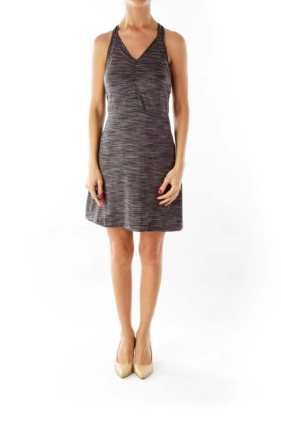 Gray Striped Sports Dress