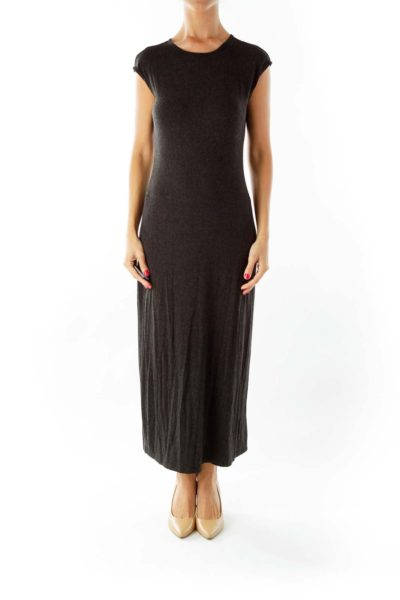 Gray Long Jersey Dress