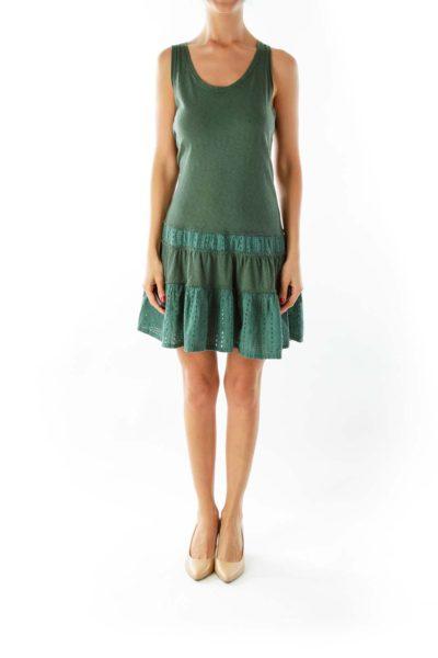Green Crochet Tent Dress