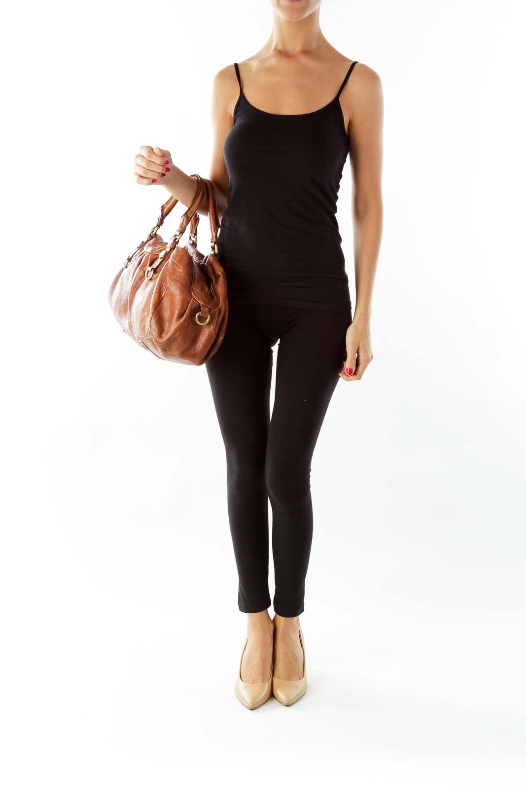Brown Zippered Handbag